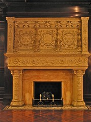 Grey Towers Castle (1893) – carved marble fireplace