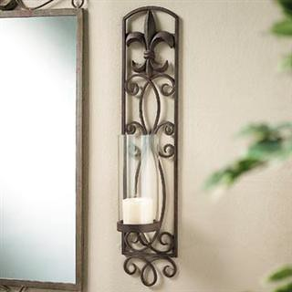 Fleur de Lis Candle Holder Wall Sconce (110-851) | Flickr - Photo ...