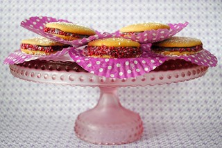 A cake stand of whoopie pies