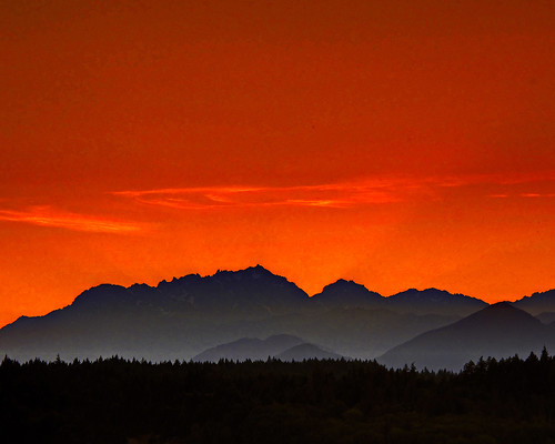 sunset sky mountains clouds washington hdr 2010 silverdale olympicmountains kitsapcounty canong10