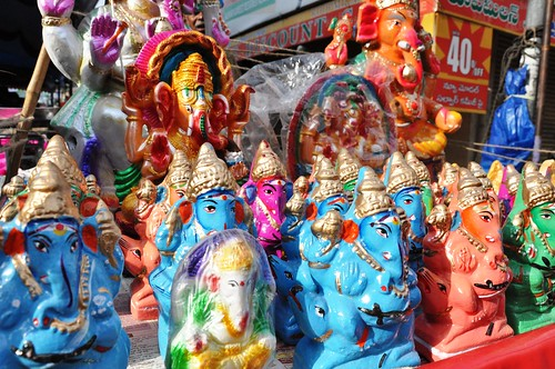 Colorful Ganesh Statues