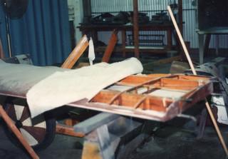 Pfalz D XII, wing restoration