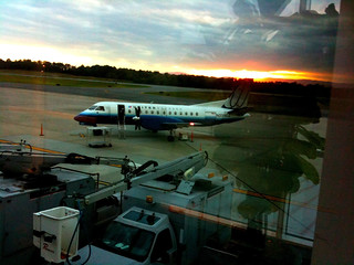 At the airport in Charlottesville (CHO), waiting for my flight to Dulles (IAD)