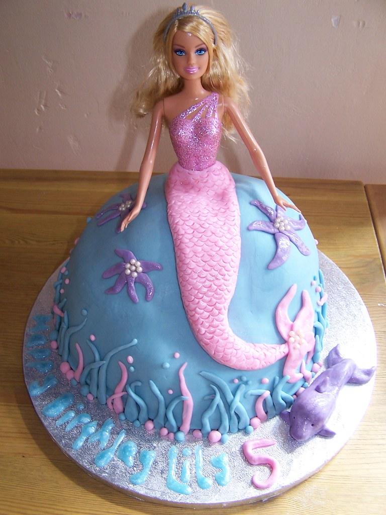 Mermaid Barbie Cake Birthday Cake Decorated As A