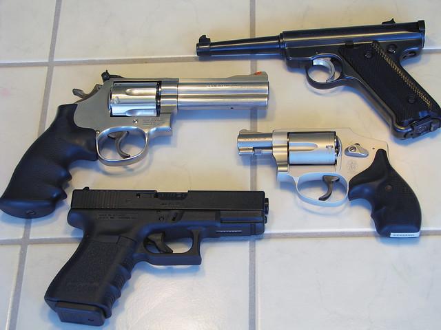 Guns on Table | Flickr - Photo Sharing!