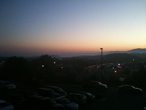 cameraphone sky fog sunrise shenandoahvalley harrisonburg
