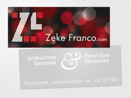 Updated Design of My Personal Business Card