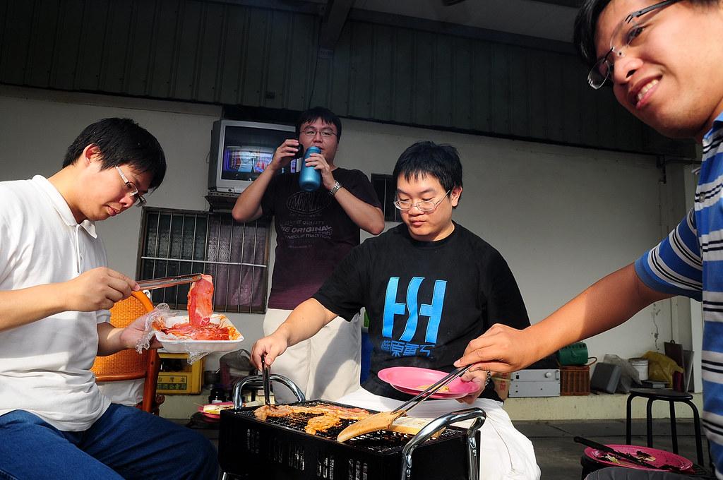 颱風前夕彰化埔心烤肉