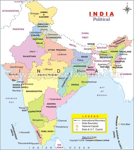 List of States in India by Largest to Smallest