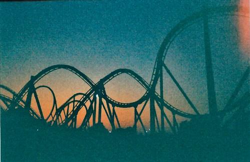 sunset summer film silhouette rollercoaster grainy disposable intimidator rachelfoor kingscominion