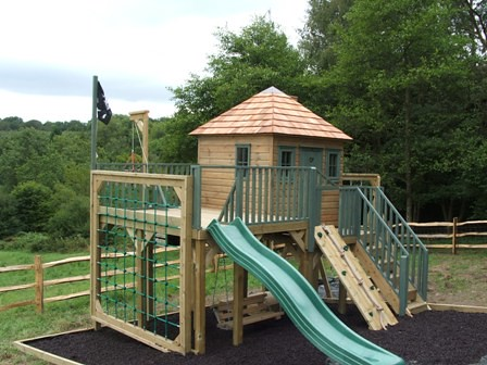 Childrens Playhouse With Platform Project Code Pc100833