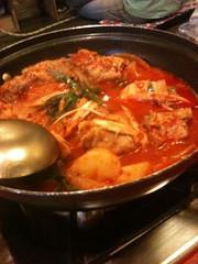meal(0.0), noodle soup(0.0), dak galbi(0.0), laksa(0.0), curry(1.0), jjigae(1.0), kimchi jjigae(1.0), hot pot(1.0), sundubu jjigae(1.0), bouillabaisse(1.0), food(1.0), dish(1.0), cuisine(1.0),