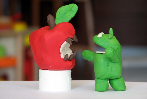 The raging battle between Apple's iPhone and Google's Android by Tsahi Levent-Levi