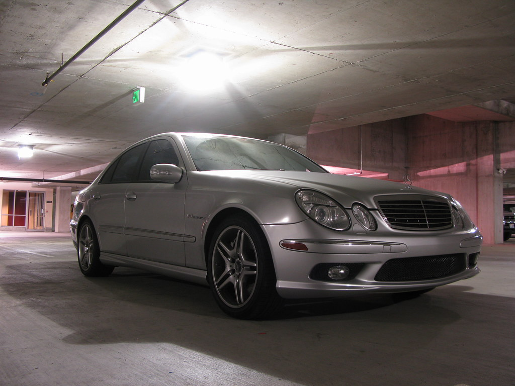 Fs 2004 silver mercedes benz e55 amg clean title for 2004 mercedes benz e500 amg