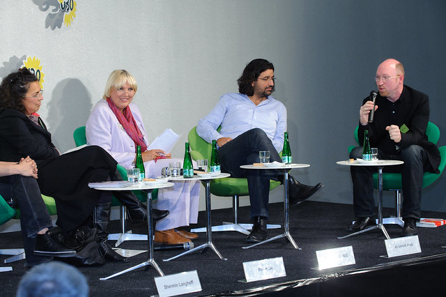 Mariam Lau, Claudia Roth, Ali Samadi Ahadi, Burkhard Spinnen