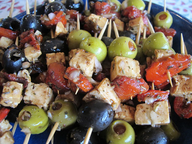 ... feta and roasted red pepper dip marinated feta with olives and roasted
