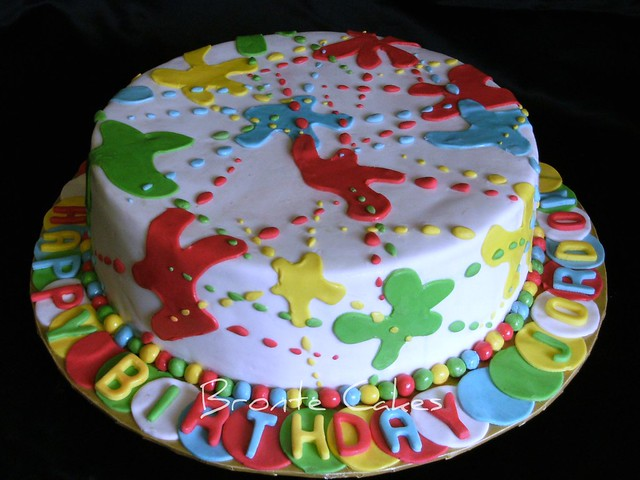 Фото торт пейнтбол