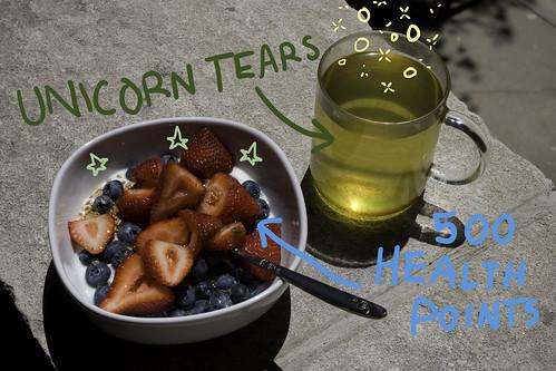 unicorn tears + 500 health points
