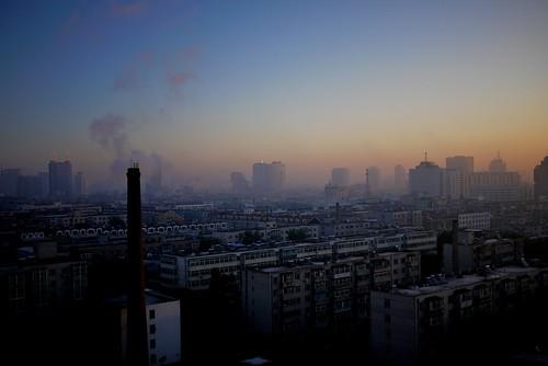 china morning sky fog sunrise changchun