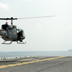 Huey lands aboard USS Essex.
