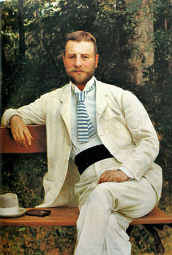 Portrait of Gustav Pongratz (1893) by Croatian painter Vlaho Bukovac by boobob92