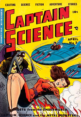 Captain Science #3 (1951), cover by Walter T. Johnson