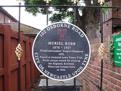 Photo of Muriel Robb grey plaque