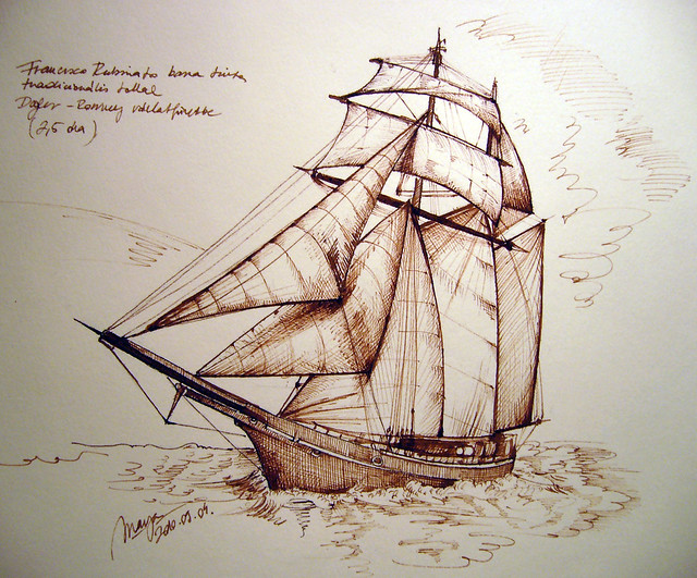 Gallery For gt Pirate Ship Pencil Drawing