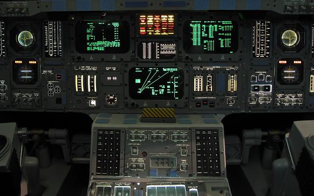 Space Shuttle Instrument Panel @ Houston Space Center ...