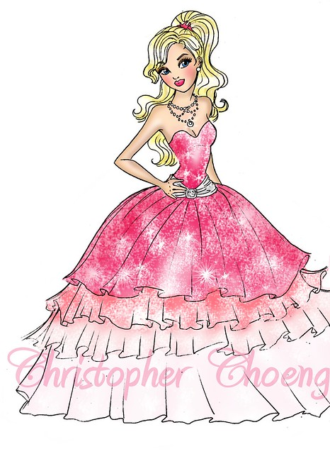 How To Draw Barbie A Fashion Fairytale Medium