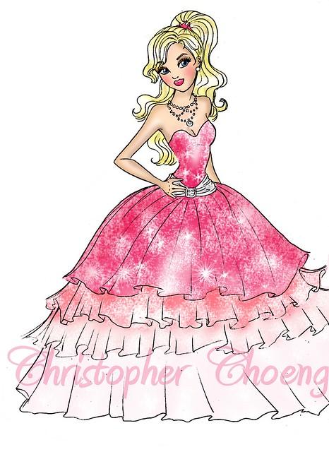 How To Draw Barbie A Fashion Fairytale Medium