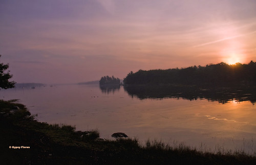 water sunrise island dawn bay twilight maine atlantic cascobay birchisland gypsyflores gypsyfloresphotography crackbetweenthetwoworlds