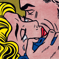 Roy-Lichtenstein-Kiss