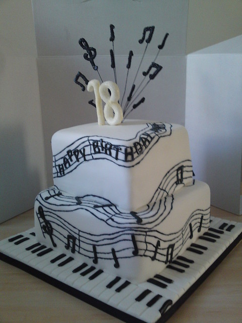 Cake Decoration Music : Pin Musical Note Placecard Holder Bridal Shower ...