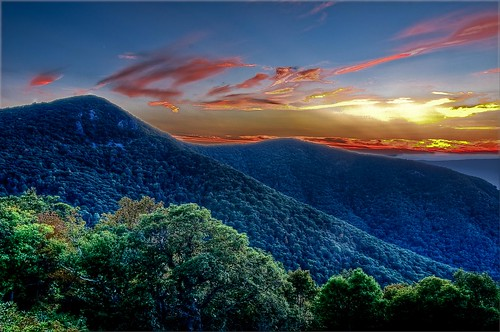 sunset mountain virginia hawksbill hdr shenandoahnationalpark photomatix