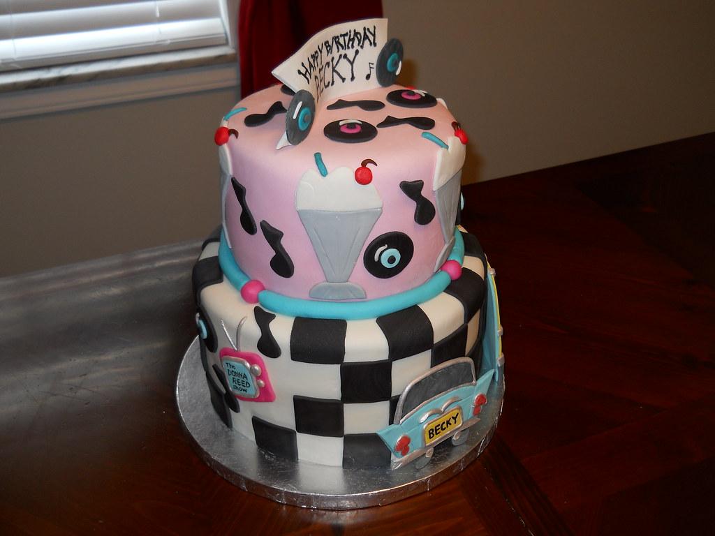 50s Birthday Cake