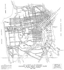 City & County of San Francisco Evening Peak Hour Traffic Flow on Principal Streets & Highways, 1969-1973