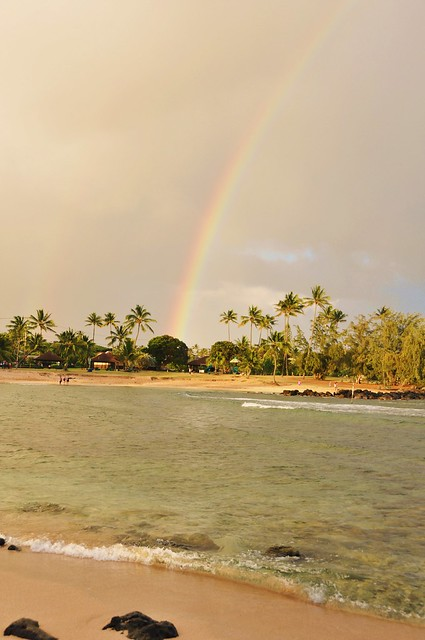 raimbow in Poipu beach park