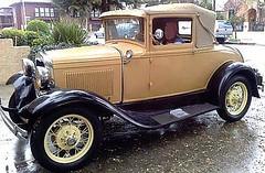 automobile, ford model a, ford model a, vehicle, antique car, sedan, ford model b, model 18, & model 40, classic car, vintage car, land vehicle, luxury vehicle,