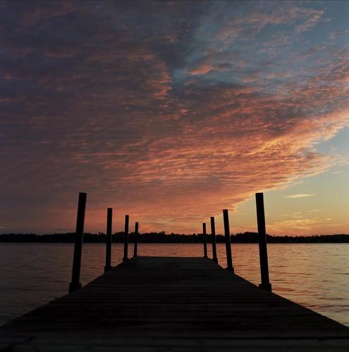 sunset sky cloud lake ontario canada colour 6x6 tlr film water rollei point dusk jetty magic deck ii medium format sturgeon
