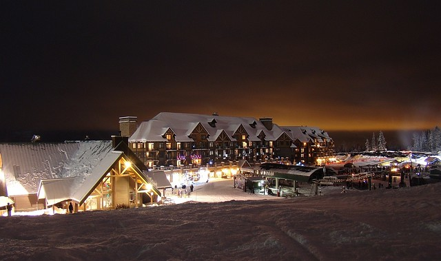 Kicking Horse, BC at night (KHMR)