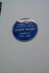 Photo of John Nash blue plaque