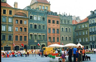 Varsovie - la place du marché en 1976