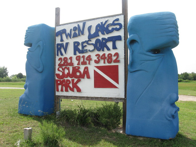 The Tiki Heads Of Twin Lakes Rv Resort Manvel Tx