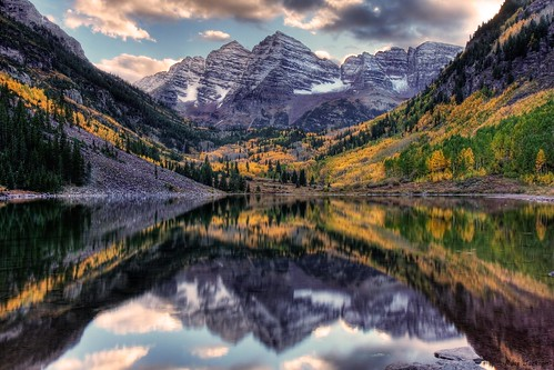 water colorado fallcolors sunsets aspen hdr maroonbells
