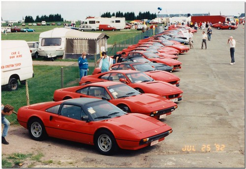 Ferrari at Christies Historic Festival at Silverstone 1992.