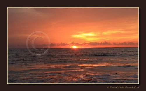 sunset srilanka negombo