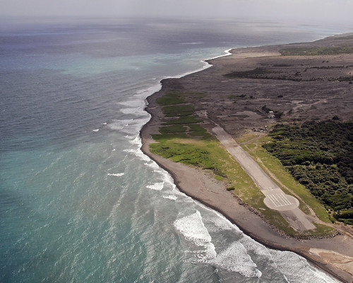 building volcano airport terminal montserrat bramble