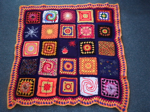 'Bonfire Challenge' Blanket - 'please add note' if you see your Square (if you can!)....>