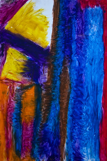 Abstract Art Oil Pastels - Streams of Unconsciousness 1